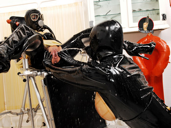 Rubber-Hood-&-Piss-Drinking-Fun!