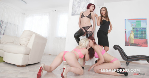 LegalPorno.com -  Outnumbered both ways Part#1 - 4 girls vs 2 boys with Tina Kay / Scyley Jam / Anna Rey / Bree Haze. GIO444