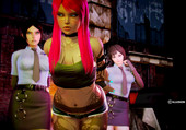 illusion - Bad area - Honey select with police woman and strap-on
