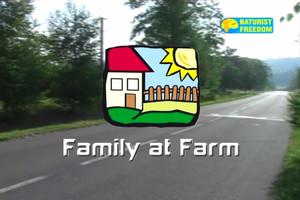 Naturist Freedom. Family At Farm.