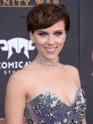Scarlett Johansson cleavage @ Avengers Premiere