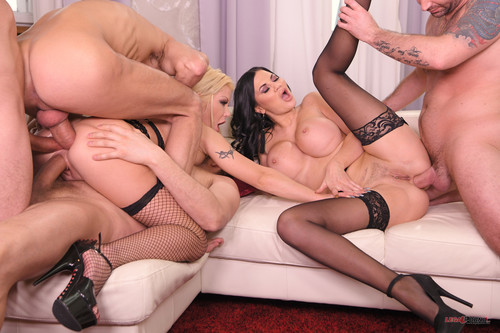 LegalPorno.com - Double Anal Cum Sluts Jasmine Jae And Barbie Sins Get Destroyed On Valentines FS037