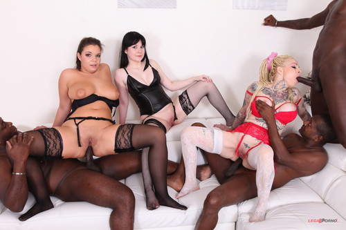 LegalPorno.com - Scarlet Ruby, Sofia Lee And Sweet Angelina Kinky Orgy With High Level Bitches IV264