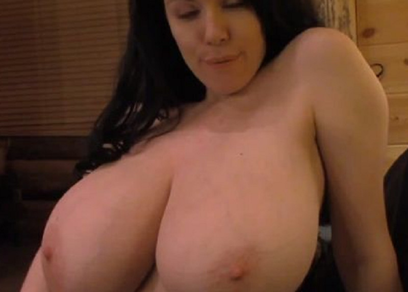 Massive Cum On Her Huge Tits