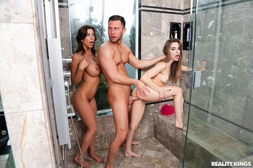 Threes Cumpany In The Shower  [FullHD]