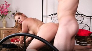 Young redhead big tits abuse