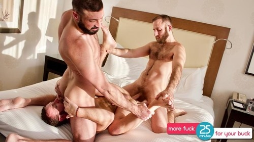 GuyBone - Sex And The SuperFacial (Joel Someone, Marco Napoli & Parker Allen) Bareback